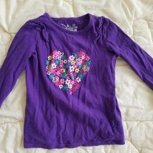 Purple long sleeve flower shirt